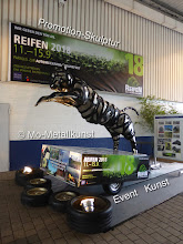 Photo: promotion sculpture, mo-metallkunst, event kunst, art and business