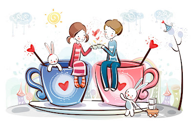 [W] Bộ hình nền dễ thương Cặp đôi cho Valentine Day. »