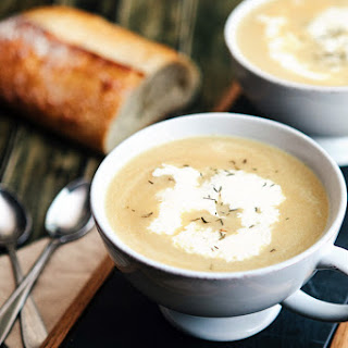 Caramelized Onion and Parsnip Soup with Chickpeas Recipe