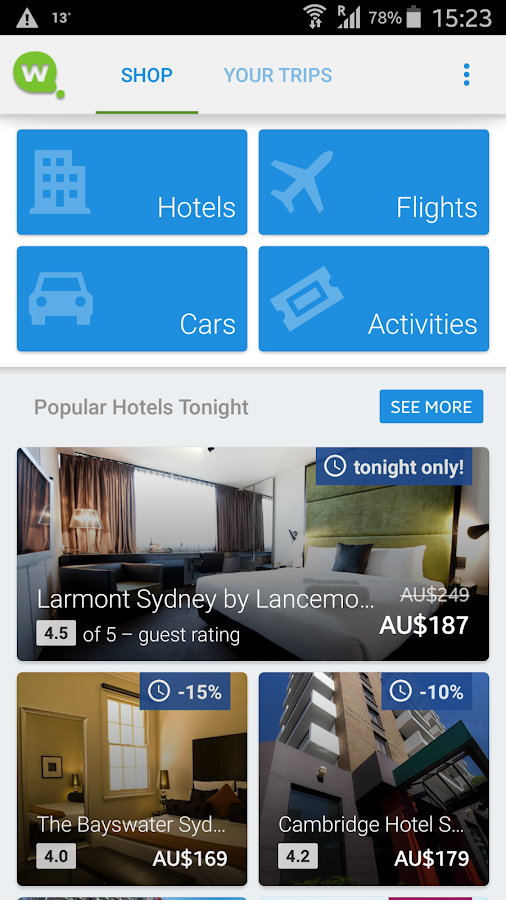 Wotif Hotels & Flights- screenshot