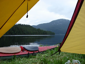 Photo: My campsite in Green Inlet.