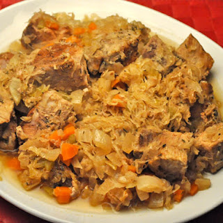 Slow Cooker Pork and Sauerkraut.