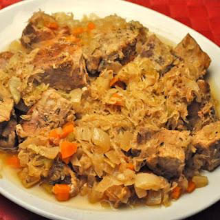 Slow Cooker Pork and Sauerkraut.