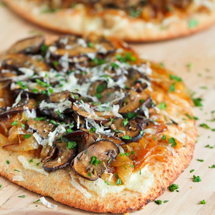 Marsala Mushroom & Caramelized Onion Naan Pizza Recipe | Yummly