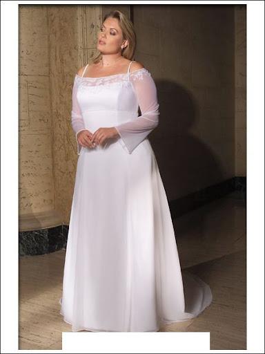 White color Aurora d'paradiso plus size wedding dress