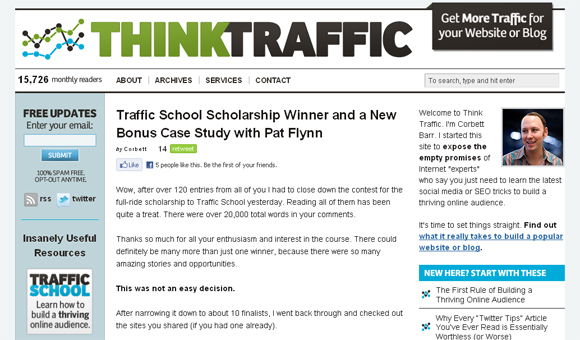 Think Traffic on Thesis Framework
