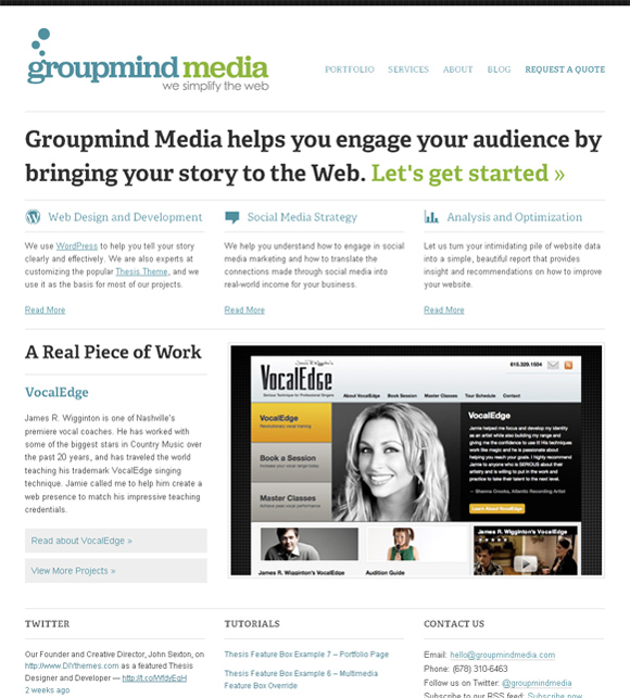 Group Mind Media on Thesis Framework