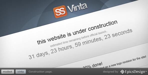 Vinta SS Under Construction Template