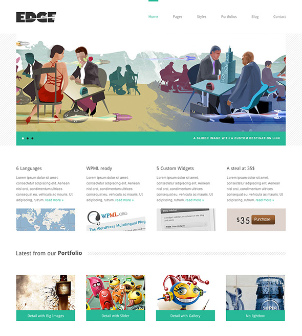 Edge Professional Minimalist Design WordPress Theme