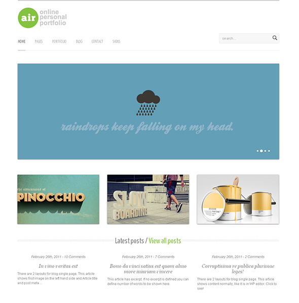 AirWP Minimalist Design WordPress Theme