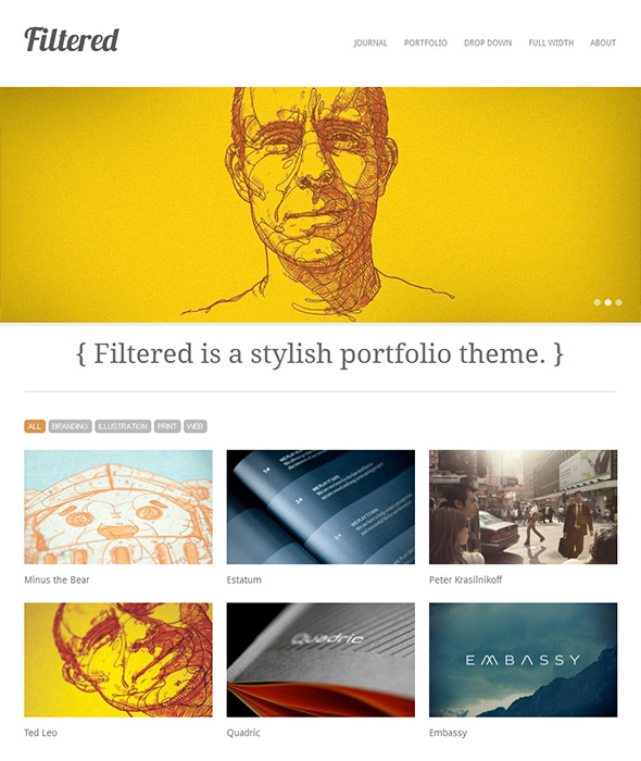 Filtered Minimalist Design WordPress Theme
