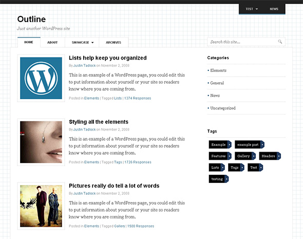 Outline Clean WordPress Theme