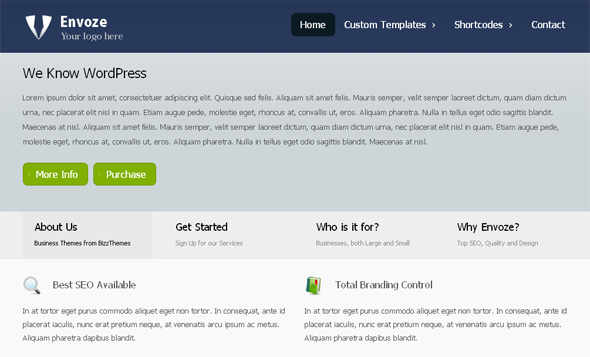 Envoze Free and Clean WordPress Business Theme