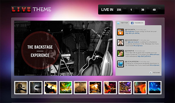 Live Theme WordPress Theme for Musicians