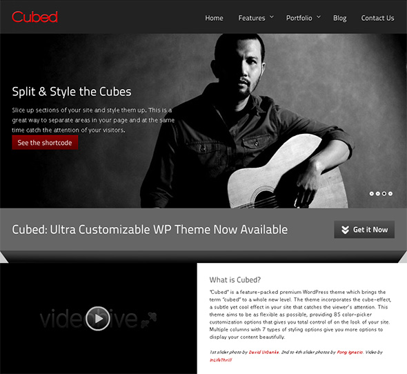 Cubed WordPress Theme for Bands