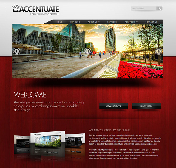 Accentuate Professional WordPress Theme