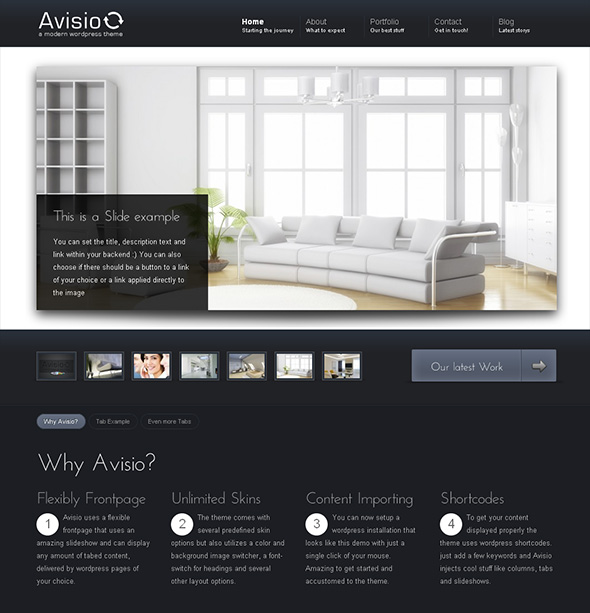 Avisio Professional WordPress Theme