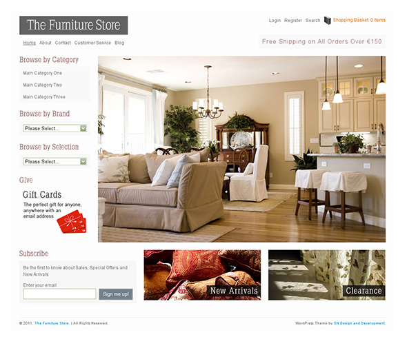 The Furniture Store Professional WordPress Theme