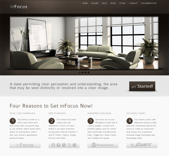 inFocus Professional WordPress Theme