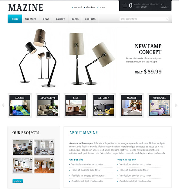Mazine Professional WordPress Theme