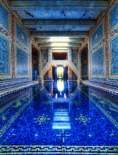 """Photo: The Azure Blue Pool at Hearst Castle    """"I was able to get a private tour throughout Hearst - so that made for an amazing and long day!Thank goodness I had a mass of memory cards... I got so much footage it was crazy!  I could have picked a bunch of shots to be the """"""""first"""""""", but I thought this one was particularly wonderful.  There are two enormous pools at Hearst Castle, and this is the indoor one.  This is a nice vantage point because this spot is actually quite difficult to reach!  There is no door behind me... so I had to """"""""shimmy"""""""" along that edge you see... It was NARROW... the shimmy was like a video game, except while holding a $10,000 camera!  Sketchy!  But I just had to get over here because I could visualize the shot before it happened...  Here's a cool fact about this pool.  Nearby, there is a huge room that was intended for a gymnasium that Hearst never constructed.  The State then made it usable for IT and Archive area, so the water cools the computers...  wild, eh?"""""""