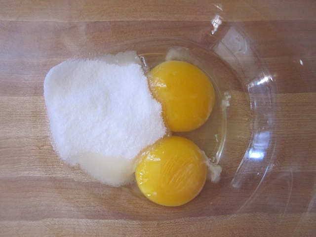 egg and sugar