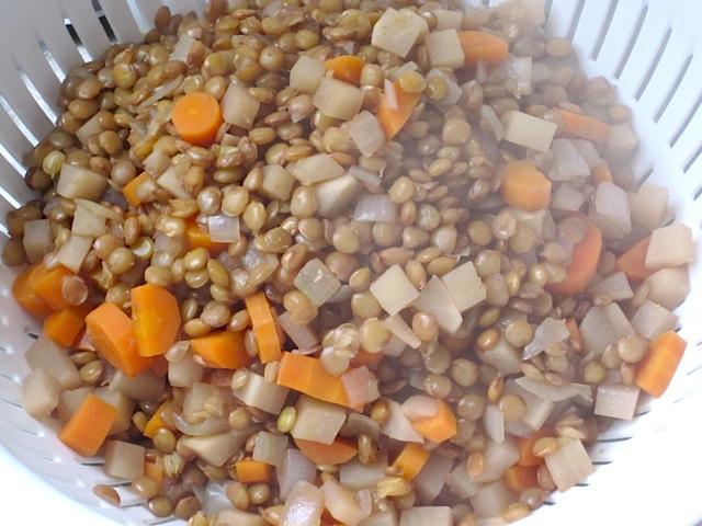 drain lentils