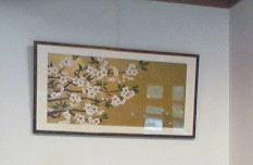 Photo: 桜 / 2007  個人依頼による作品 ブレダン紙、アクリル、金色顔料粉、額装サイズ W90 × H45cm