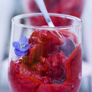 Sparkling Wine and Berry Dessert
