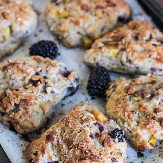 Blackberry Peach Scones.