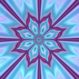 Star by Cassy 67 - Illustration Abstract & Patterns ( pastel, kaleidoscope, purple, blue, stars, digital art, pink, flowers, fractal, digital, fractals, floral, flower )