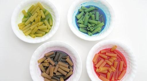 Macaroni In Dye