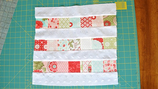 Sewn pieced fabric