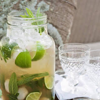 Mint and Lychee Caprioscas.
