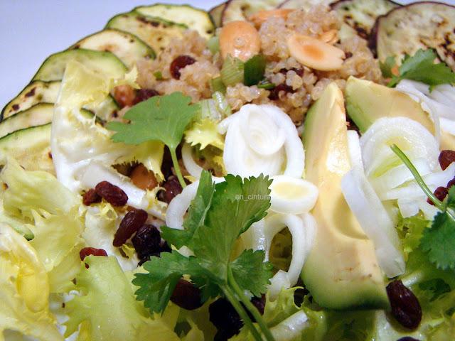 Ensalada templada de quinoa