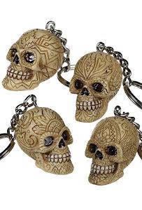Nyckelring, dödskalle