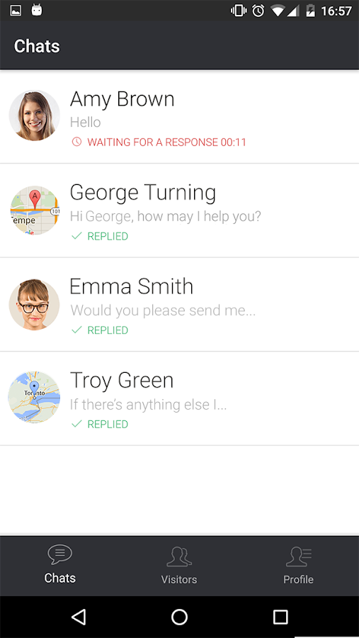 LiveChat for Android- screenshot