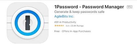 Best Business iPad Apps: 1password