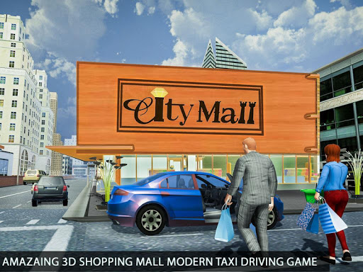 Shopping Mall Radio Taxi: Car Driving Taxi Games apkslow screenshots 14