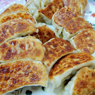 Super Delicious ! Juicy Gyoza Dumplings with Cabbage and Onion