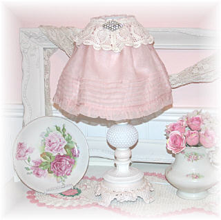 ~ Vintage Pieces Make a Lampshade ~