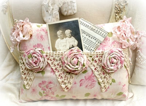 Vintage Pocket Pillows and Baby Shoes