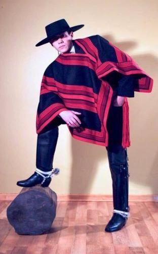 Man in Chilean dress