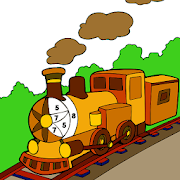 Trains Color by Number - Vehicles Coloring Book