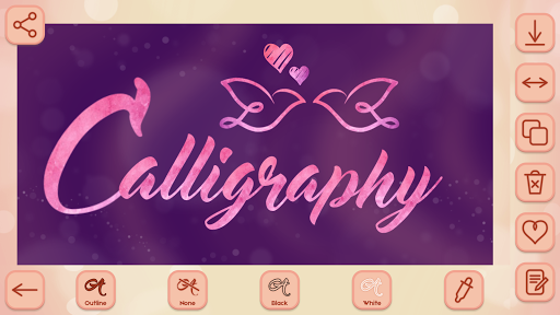 Name Art on Photo Love Calligraphy 1.5 screenshots 1