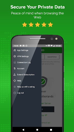 Unlimited VPN app - Simple and easy to use - ibVPN 3.4.1 screenshots 4