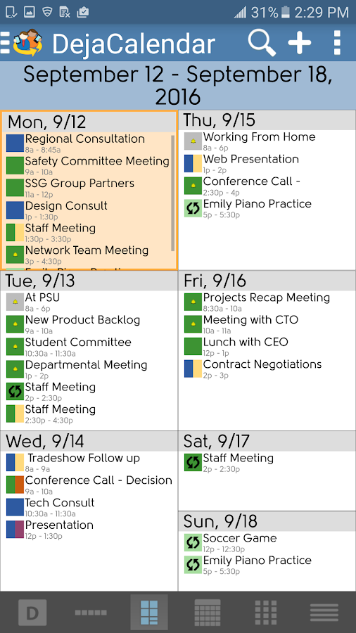 DejaOffice CRM + Outlook Sync- screenshot