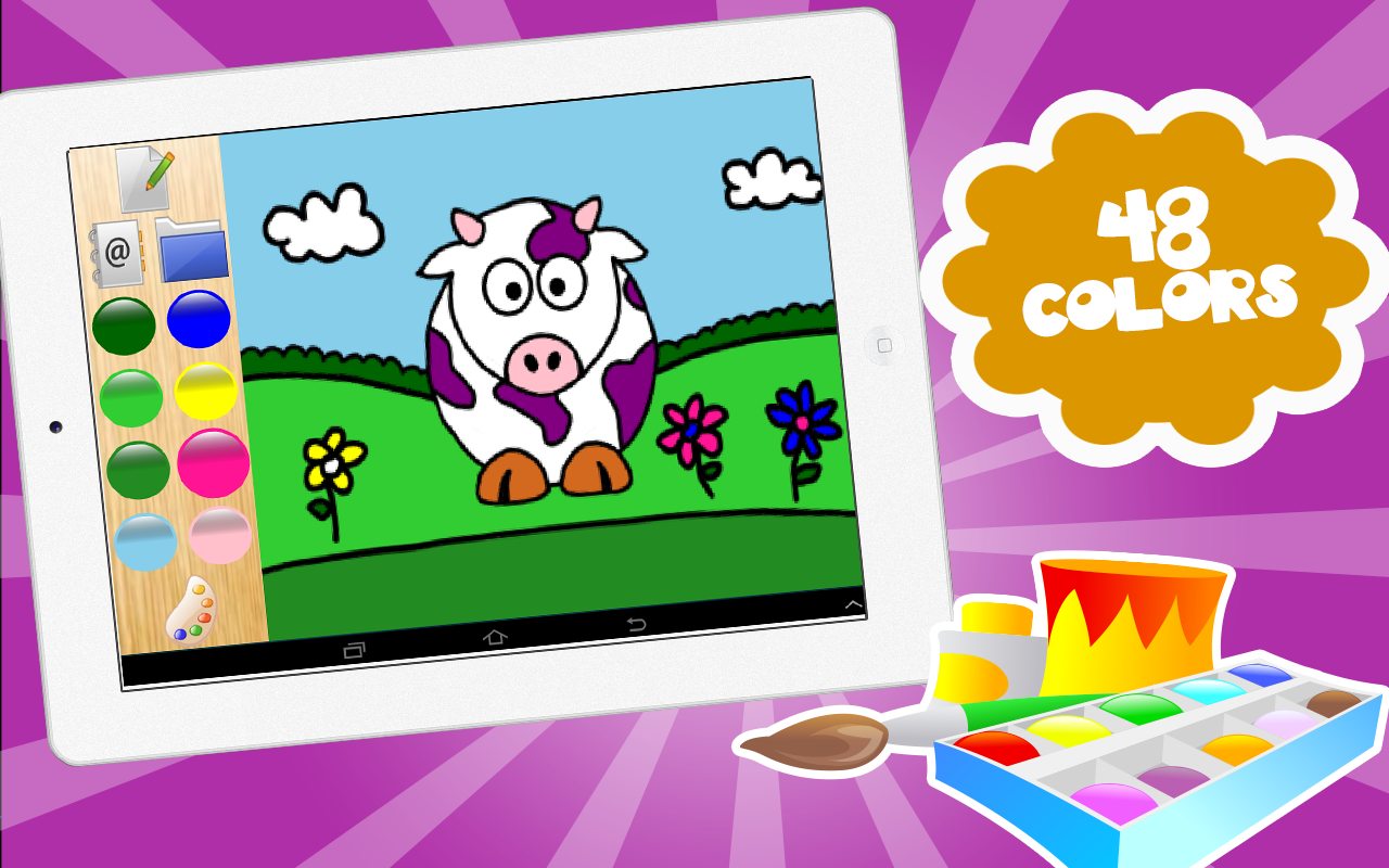 drawing colors coloring kids screenshot - Drawing And Colouring For Kids