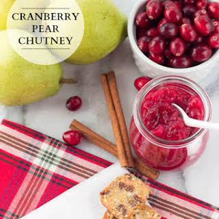 Cranberry Pear Chutney.