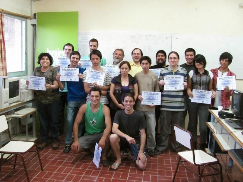 Gente que participó en la GGJ 2015 en San Rafael (Mendoza) en el Instituto de Estudios Superiores.